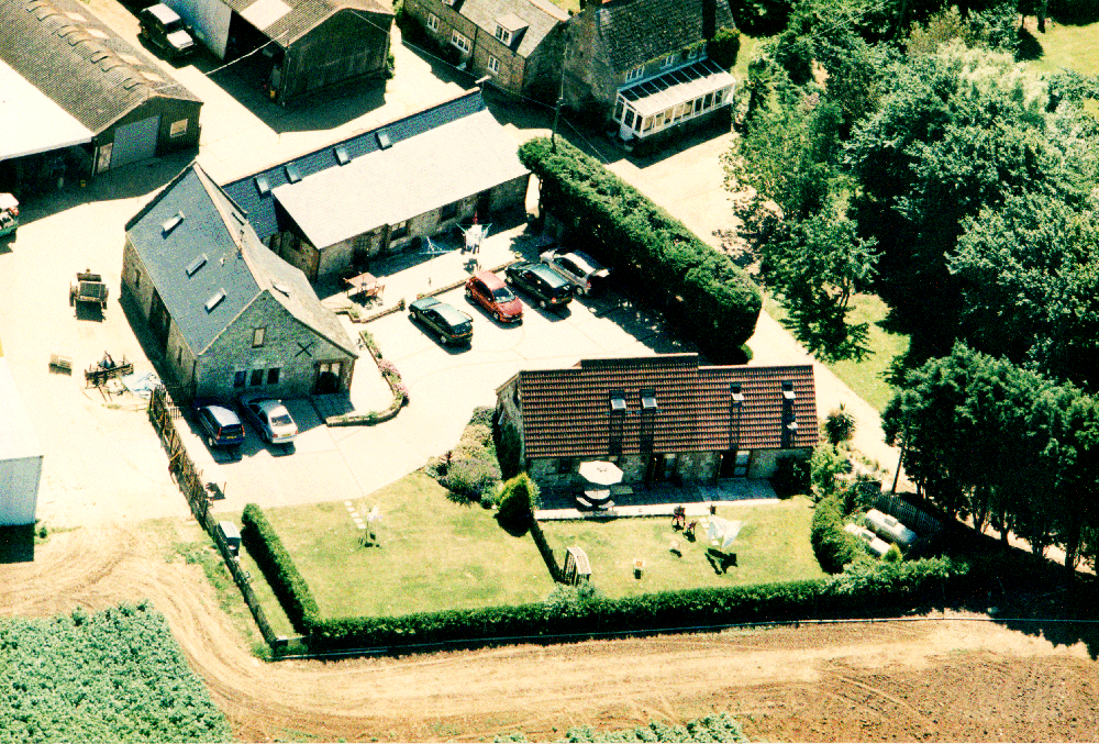 Arial View of Cottages